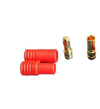 3.5mm golden connector with red housing