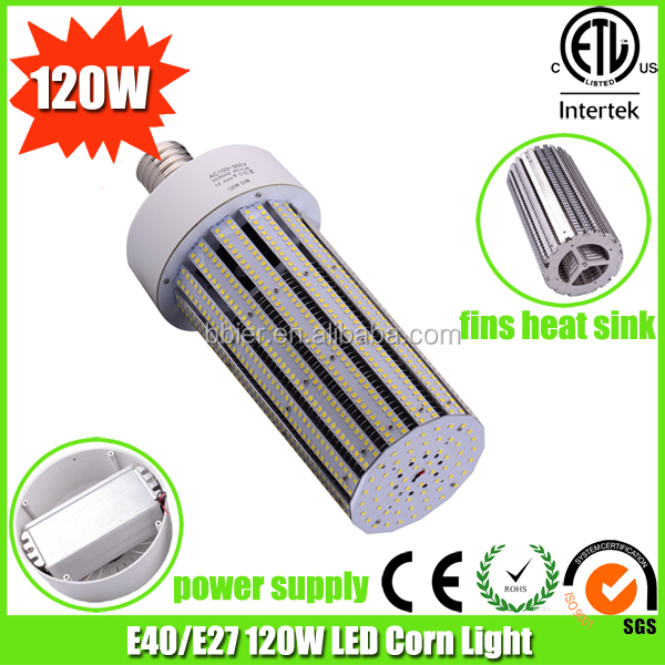 led parking lot retrofit light e39 e27 led 120watt led corn cob e27 bulbs