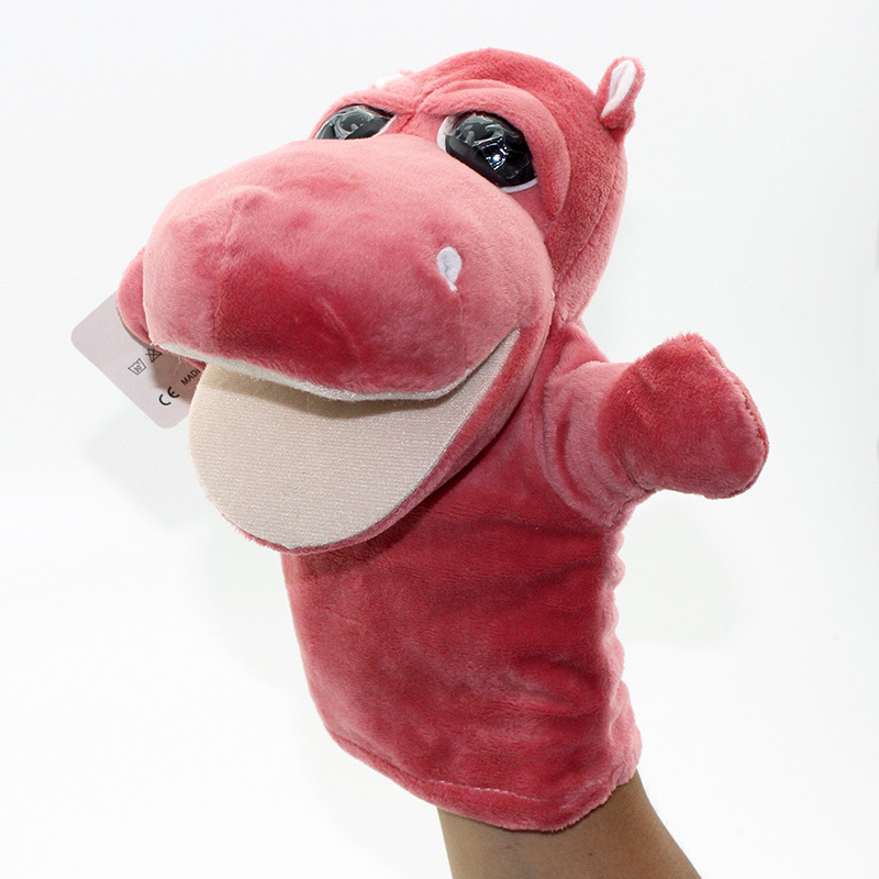 Cheap plush hand puppet plush hippo hand puppet for sale