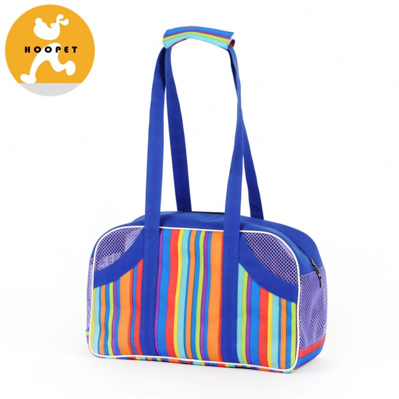 Wholesale colorful striped mini traveling dog carrier bag