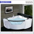 Indoor Portable Corner Bathtub with Glass and Massage Shower (TMB110)