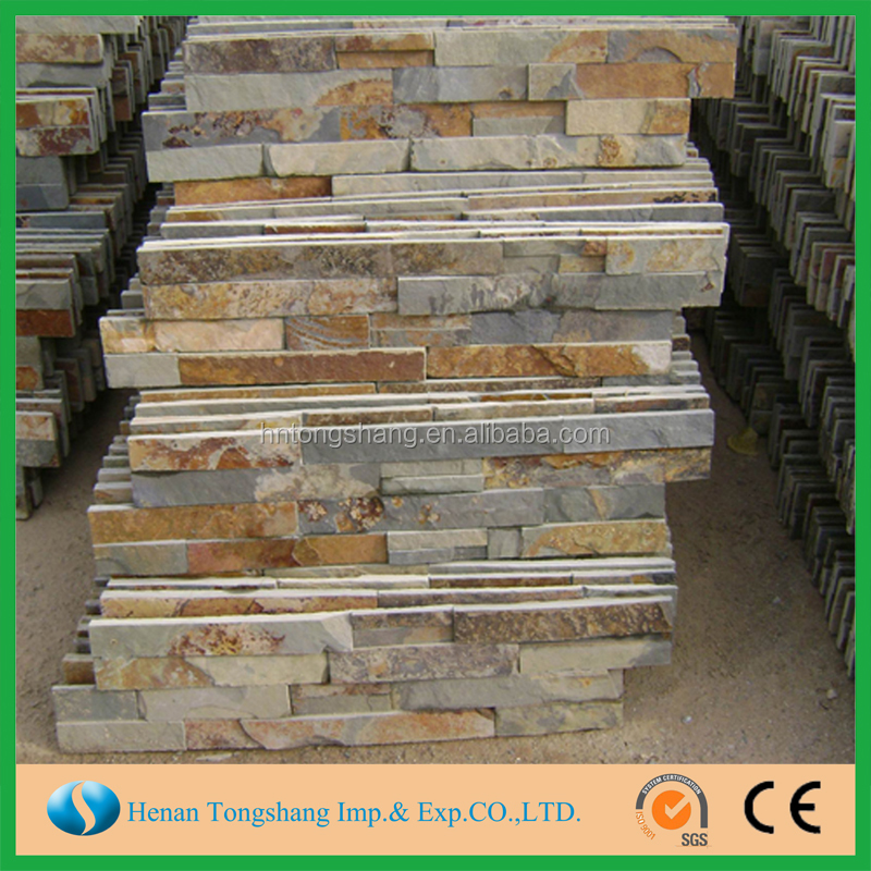 Low price natural stone culture slate and snacked slate on promotion