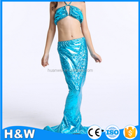 Popular hot sale 3 pieces girls mermaid tail for swimming swimsuit