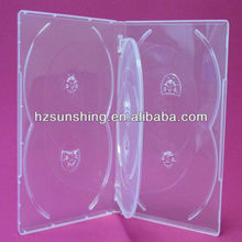 plastic case 14mm dvd 6disc / plastic covers dvd