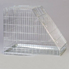 wholesale metal sloping foldable sliver galvanized steel dog crate manufacturer