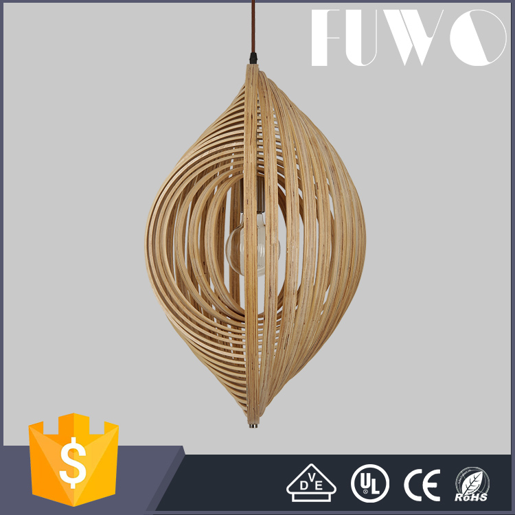 High quality factory price decoration wood led pendant lamp for kitchen/room/hotel
