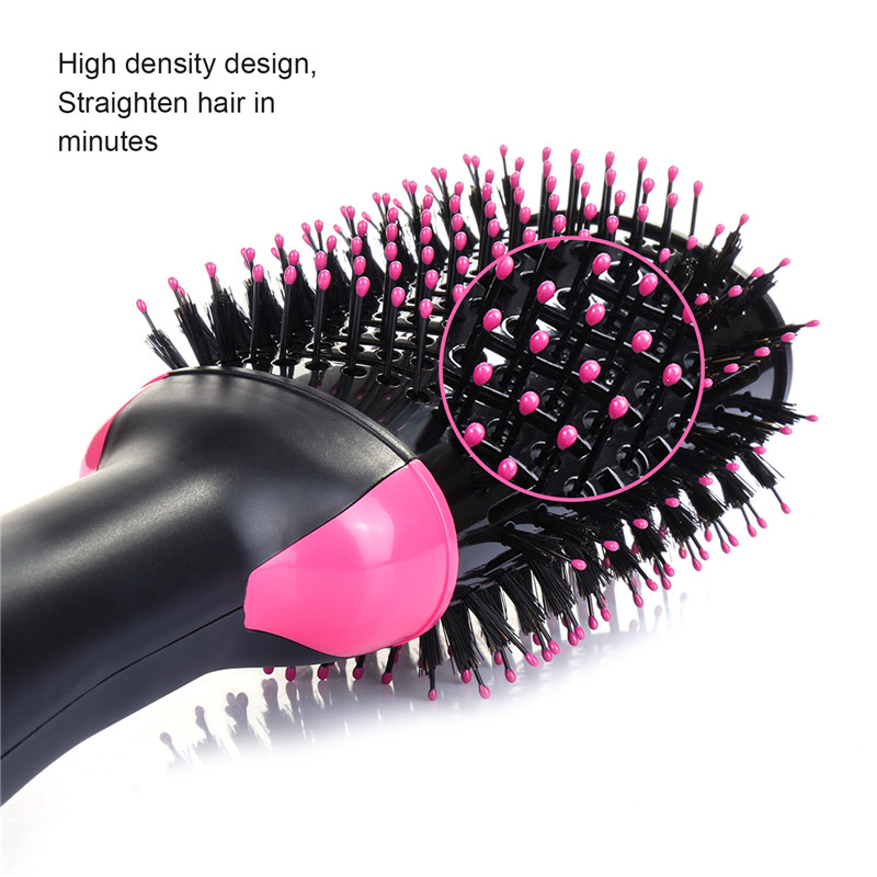 best seller beauty care product hair dryer negative ion hair dryer brush 3 in 1 hot air brush hair curler straightener for lady