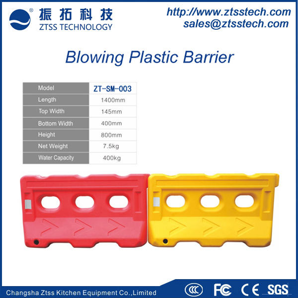 High performance Plastic Traffic Control Water Filled Road Crash Barrier 1.4meter length plastic road barrier