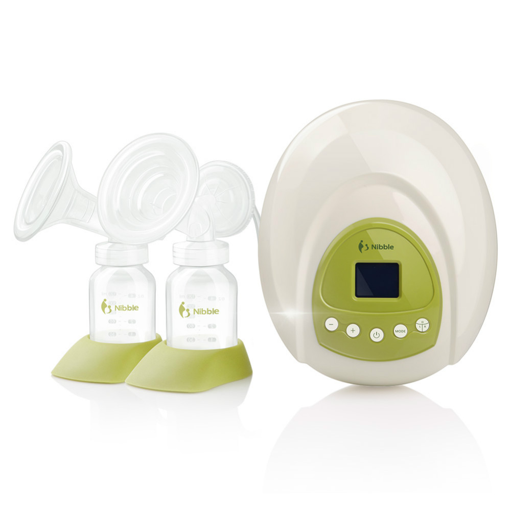 Easy operation breast pump enlarge with twin cup