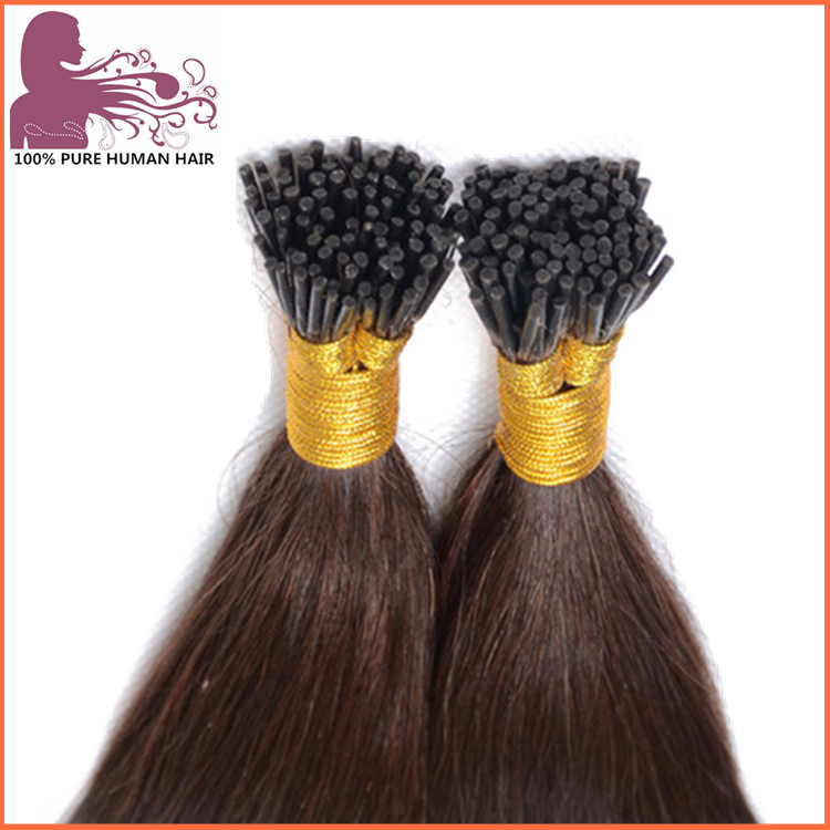 hair factory high quality wholesale 100% human hair keratin pre bonded I tip hair extensions