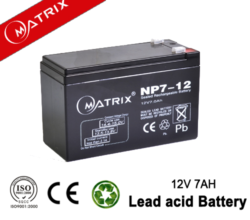 12v7ah deep cycle rechargeable storage lead acid battery