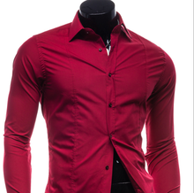 CL0012A New men's solid color casual fashion shirt
