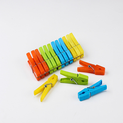 High quality small colored long spring plastic clips for clothing