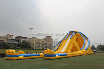 big triple inflatable slide giant inflatable water slide for adult