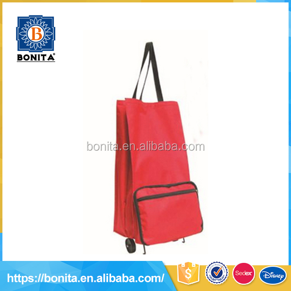 Wholesale multicolor customized unisex red light 600d shopping trolley bag