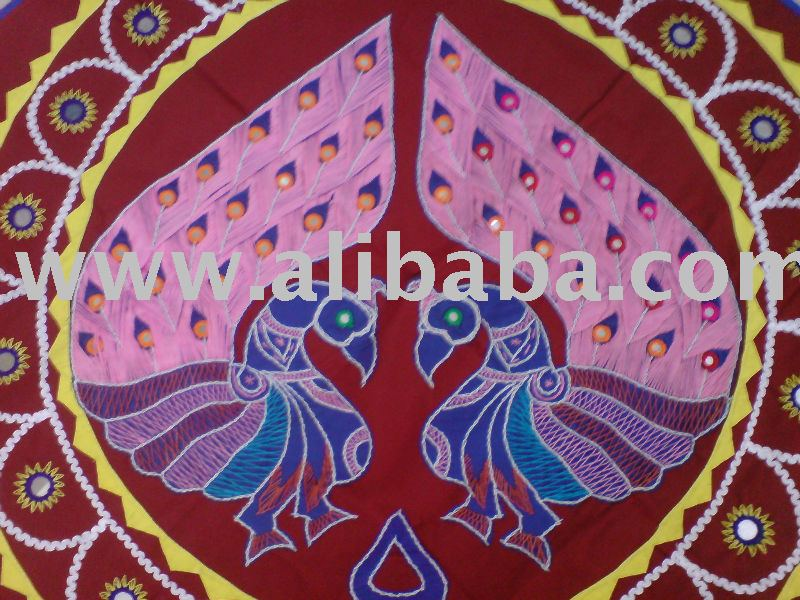 colorful exotic applique wall hanging from Orissa, India