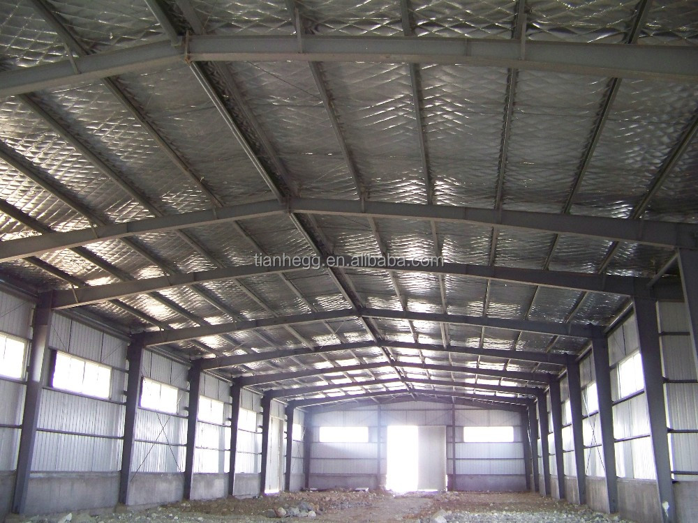 large span two story steel structure warehouse building