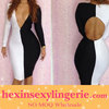 Spandex and rayon bandage dress with long sleeve