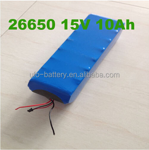 15V 10ah Lifepo4 Battery 26650 Battery Pack with CE Approval