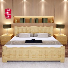 wooden furniture bedroom use comfortable adult wood bed