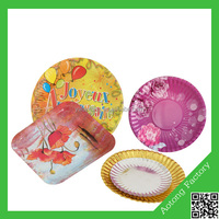 Fancy printing flower design paper plates