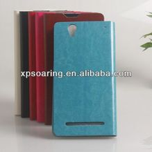 Cellphone Credit card leather Case for Sony Xperia T2 Ultra