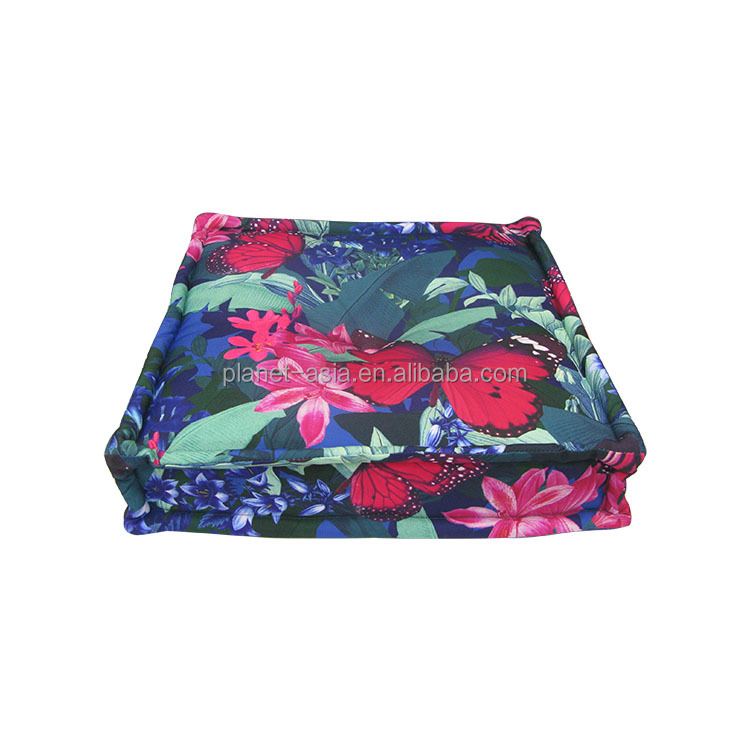 Interesting Comfortable Creative Design Waterproof Butterfly flower printing Square 50x50 Seat Cushions for Sports