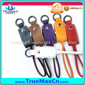 PU Leather Key Chain Type USB Cable For Samsung