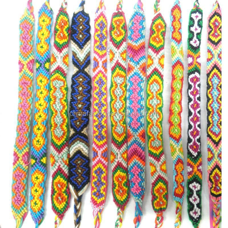 Most Popular Fashion Handmade Woven Friendship Love Mexican Woven Bracelets