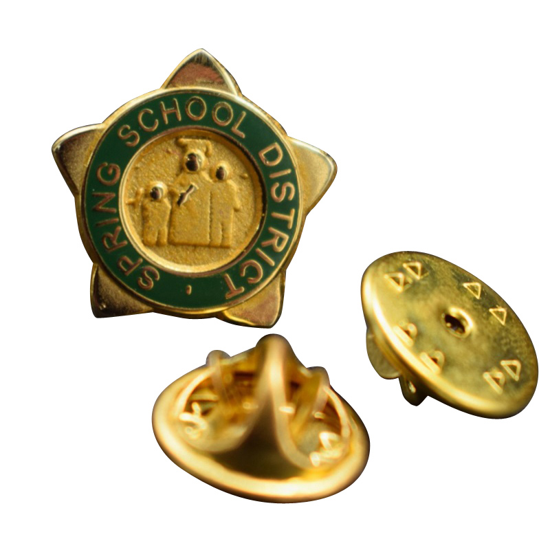 Metal Souvenir Award Badge With Gold Plating