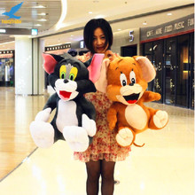 2015 Soft Cute Stuffed Cartoon Toy Anime Cat and Mouse Tom and Jerry Plush Doll