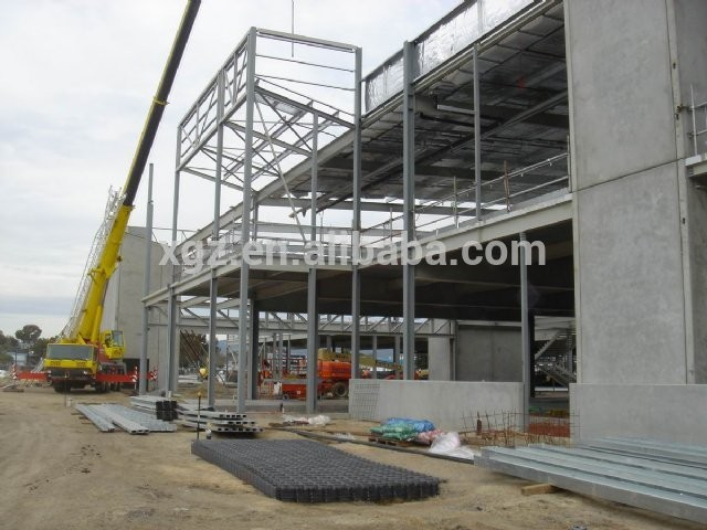 Steel structure two-story prefabricated shops