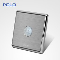 new design silver smart touch switch sensor day night light switch wholelsae hotel Human body sensor switch
