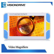 Visiondrive 5.0 inch Color LCD Screen 4-32X Zoom Pocket Portable Electronic Reading Aid Video Magnifier for Low Vision
