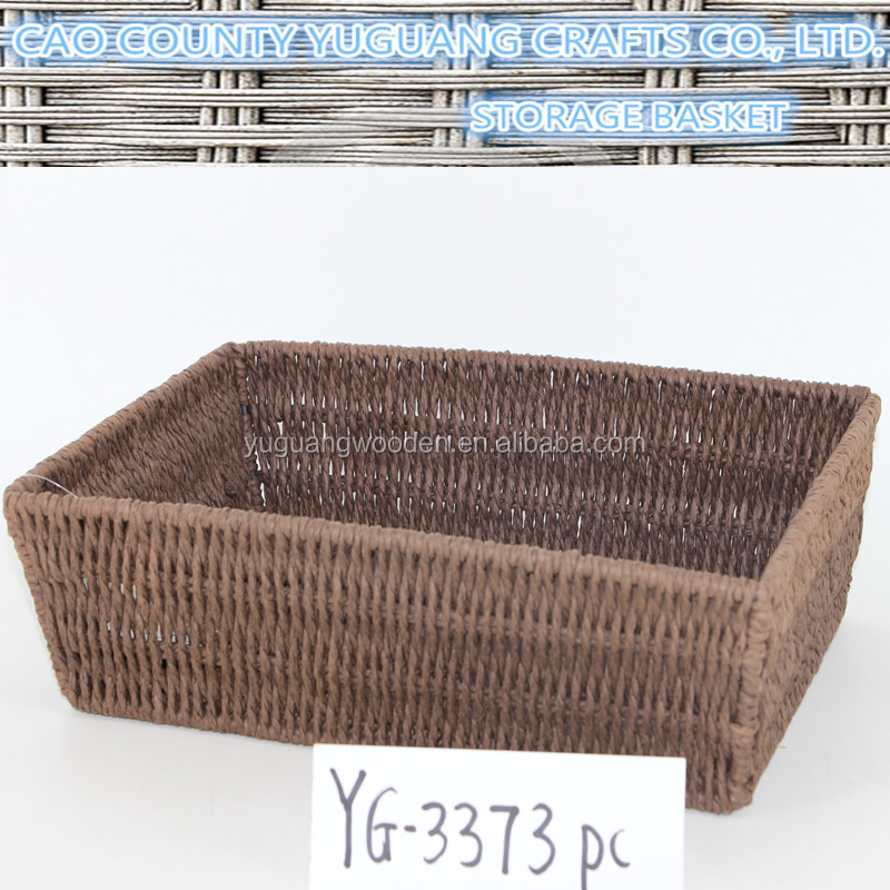 Eco-friendly Supermarket food display paper rope basket