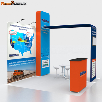 3 x 3 expo event aluminum frame with zipper pillowcase tradeshow booth