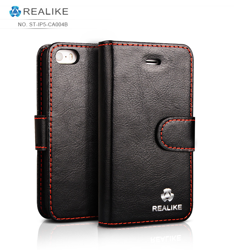 4 inch mobile phone case luxury real leather case for iphone 5