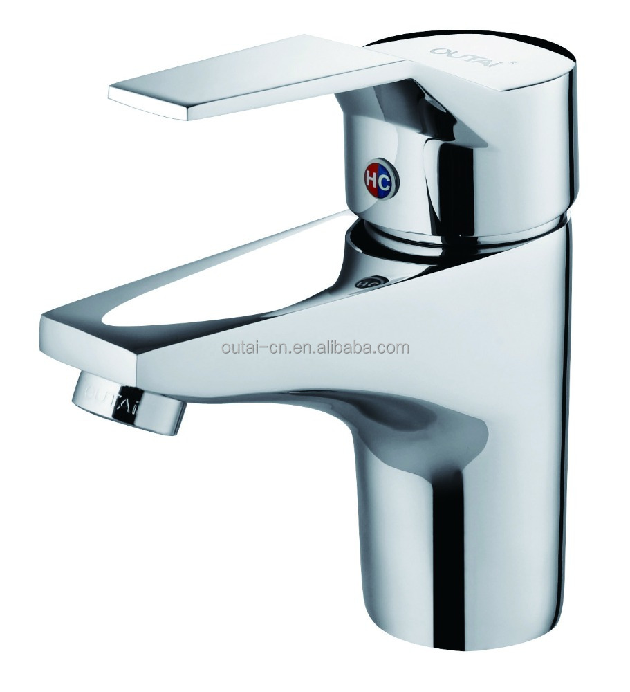 deck mounted bathroom basin mixer taps