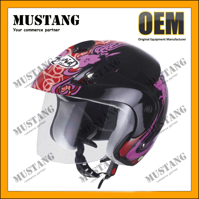 Discount Colorful Adjustable Visor Moped Custom Motorcycle Helmets