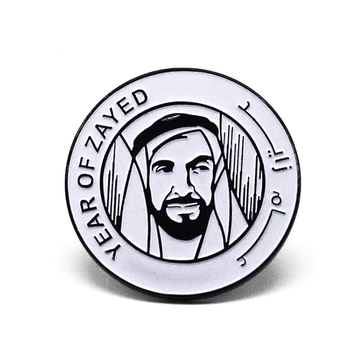 Custom metal UAE souvenir magnets national day badge for YEAR OF ZAYED