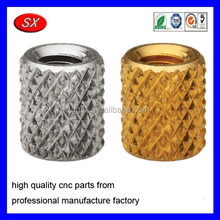 custom Brass Copper Pins Insert knurled pineapple pattern nut and bolt,CNC metal Precision turning part