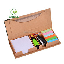 Combination paste color sticky note, memo pad, note paper