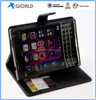 Flip Leather ID Card Case Folio Cover for blackberry Q30