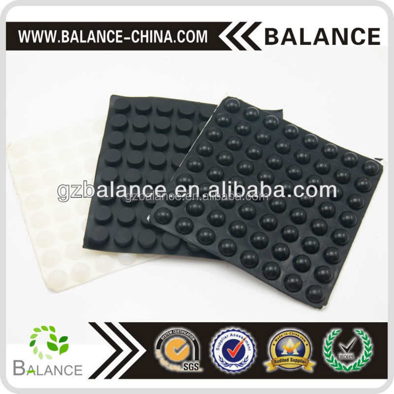 Rubber floor matting furniture bumper pads for non-slipping