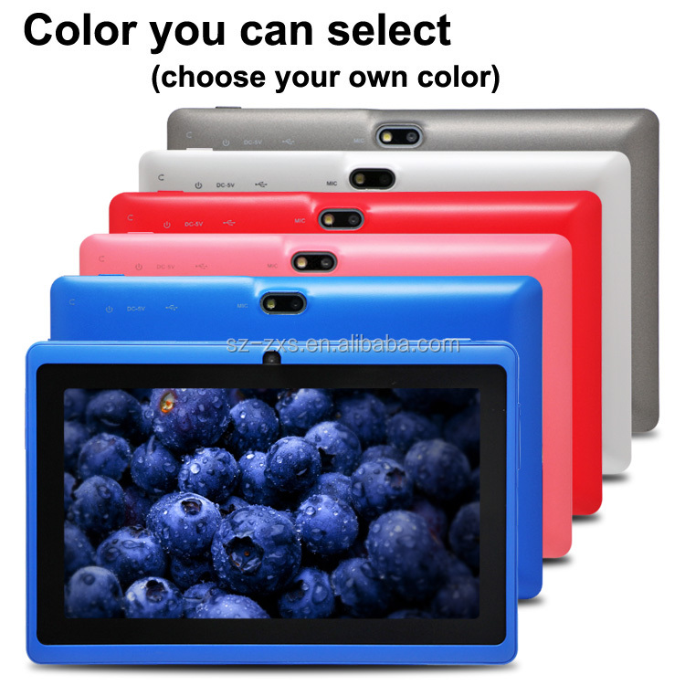 7 inch tablet pc dual core 1024*600 Pixels 1g ddr 8g flash tablet pc android in me ZXS-Q88