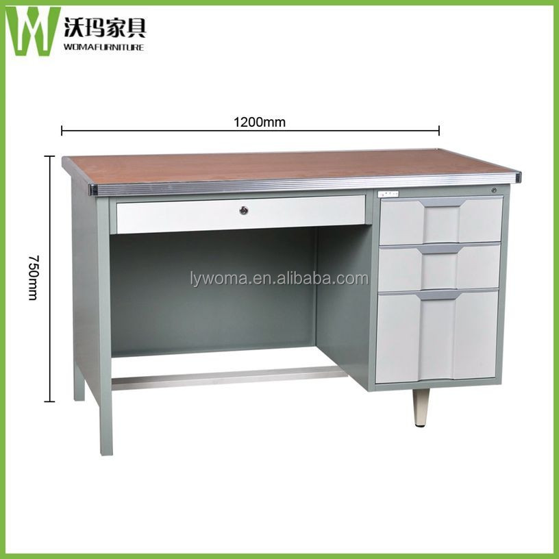 Modern executive desk office table design wooden top metal frames computer executive office desk