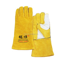 2016 Wide Plam Guard Split Cowhide Leather welding Gloves