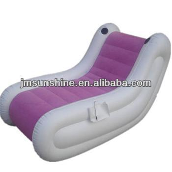 Inflatable flocking sofa/music chair/inflatable music flocking chair