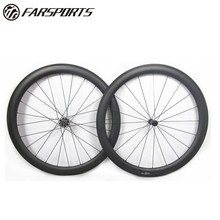 Super team Farsports 700C Carbon Road Wheelset 50mm depth Clincher Carbon Fiber Road Bike Bicycle Wheels with Bitex BX303 Hub
