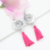 Fashion DIY Jewelry Wholesale Chunky 18mm Button Snap Jewelry Interchangeable Tassel Charm Snap Earrings for women Brincos